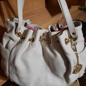 Michael Kors white hobo bag